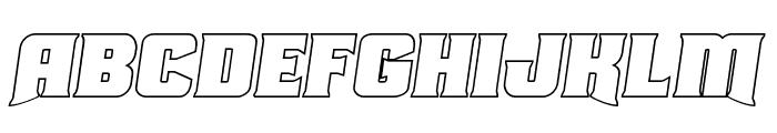 Union Gray Outline Semi-Italic Font LOWERCASE