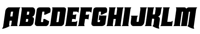 Union Gray Semi-Italic Font UPPERCASE