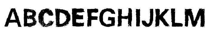 Unisketch Bold Font UPPERCASE