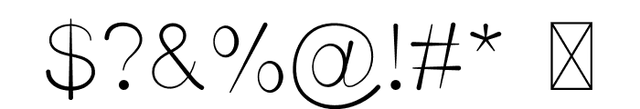 Unisono INK Font OTHER CHARS