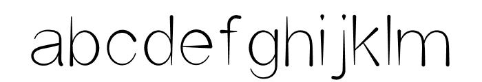 Unisono INK Font LOWERCASE