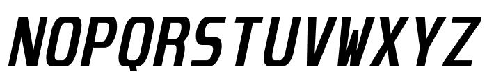 Unispace Bold Italic Font UPPERCASE