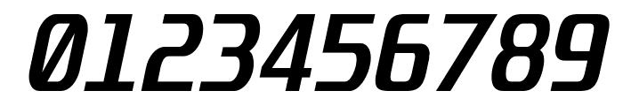 Unispace-BoldItalic Font OTHER CHARS