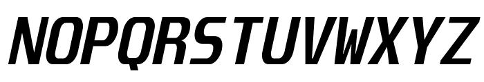 Unispace-BoldItalic Font UPPERCASE