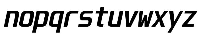Unispace-BoldItalic Font LOWERCASE