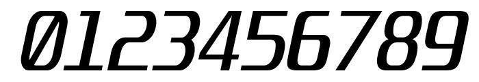 Unispace-Italic Font OTHER CHARS