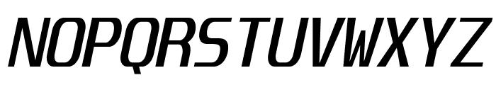 Unispace-Italic Font UPPERCASE