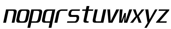 Unispace-Italic Font LOWERCASE
