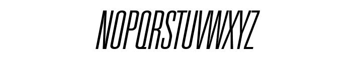 Universal Accreditation Italic Font UPPERCASE