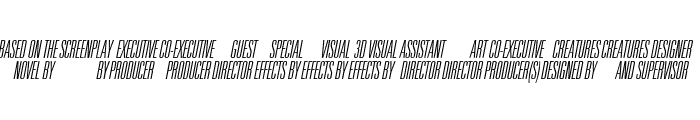 Universal Accreditation Italic Font LOWERCASE