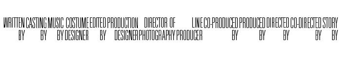 Universal Accreditation Font LOWERCASE