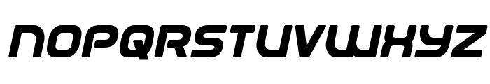 Universal Jack Bold Italic Font UPPERCASE
