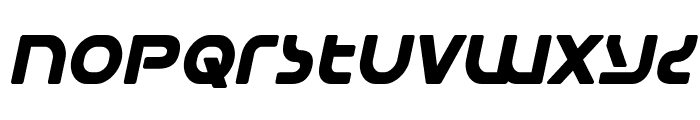 Universal Jack Bold Italic Font LOWERCASE