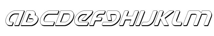 Universal Jack Shadow Italic Font UPPERCASE
