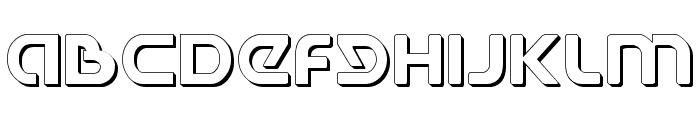 Universal Jack Shadow Font UPPERCASE