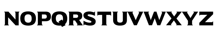 Universal Serif Font UPPERCASE