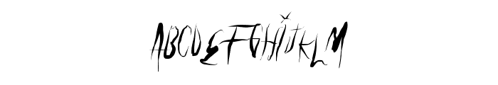 UniversalFreaky Font UPPERCASE