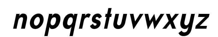 UniversalisADFStd-BoldCondIt Font LOWERCASE