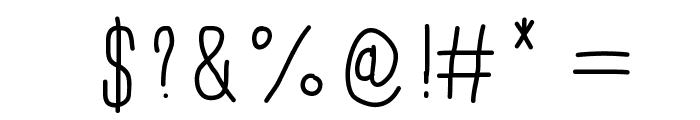 University Font OTHER CHARS