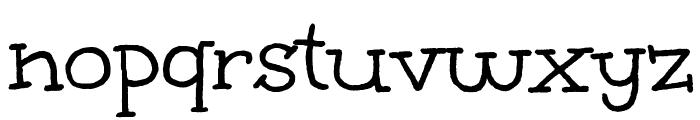 Unkempt Font LOWERCASE