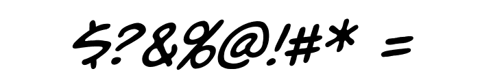 Unmasked BB Italic Font OTHER CHARS