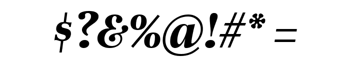 Unna Bold Italic Font OTHER CHARS