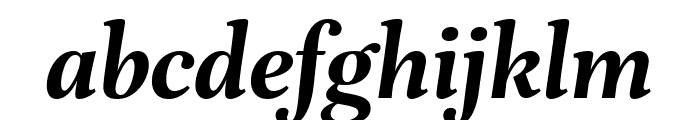 Unna Bold Italic Font LOWERCASE