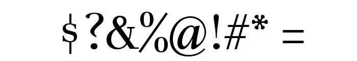Unna-Regular Font OTHER CHARS