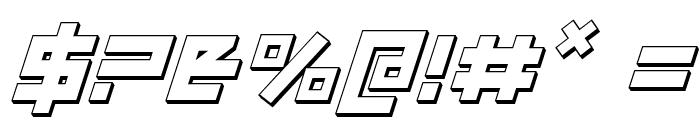 Uno Estado 3D Italic Font OTHER CHARS