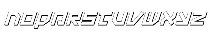 Uno Estado 3D Italic Font LOWERCASE