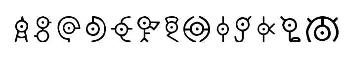 Unown Font LOWERCASE