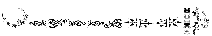 Unpublished Ornaments Two Font UPPERCASE