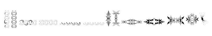 Unpublished Ornaments Two Font LOWERCASE