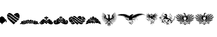 Unpublished Ornaments Font LOWERCASE
