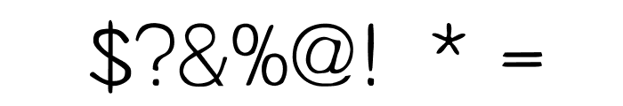 Unruly Light Font OTHER CHARS