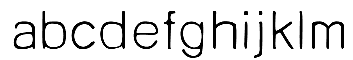 Unruly Light Font LOWERCASE