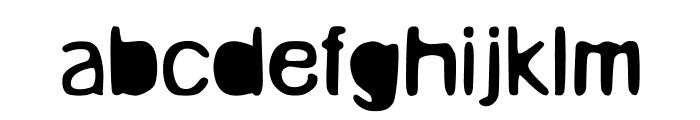 Unruly Font LOWERCASE