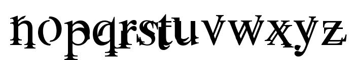 Unserif Font LOWERCASE