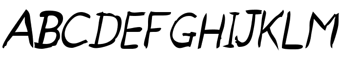 Untidy Italic Skrawl Font UPPERCASE