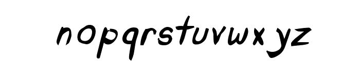 Untidy Italic Skrawl Font LOWERCASE