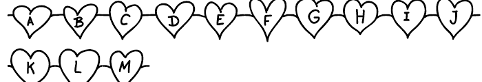 Unchain My Heart Chained Font UPPERCASE