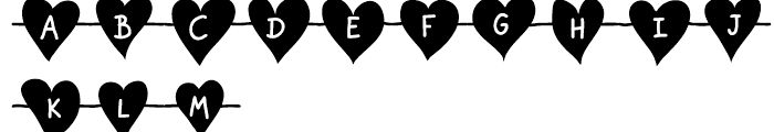 Unchain My Heart Chained Font LOWERCASE