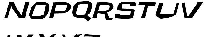 Underground Oblique Font UPPERCASE