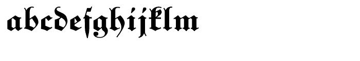 Unger Fraktur Bold Font LOWERCASE