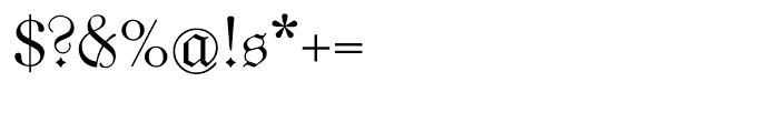 Unger Fraktur Regular Font OTHER CHARS