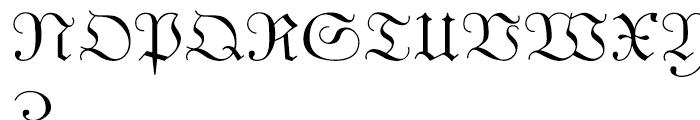 Unger Fraktur Regular Font UPPERCASE
