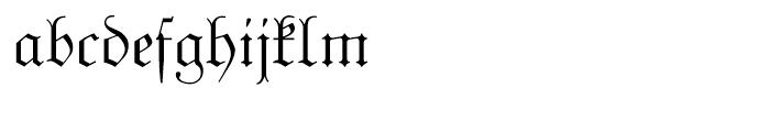 Unger Fraktur Regular Font LOWERCASE