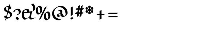 Unikled Bold Font OTHER CHARS