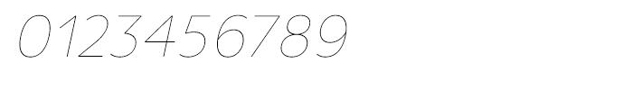Uniman UltraLight Italic Font OTHER CHARS