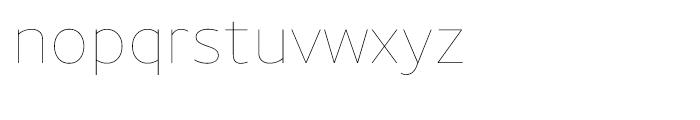 Uniman UltraLight Font LOWERCASE